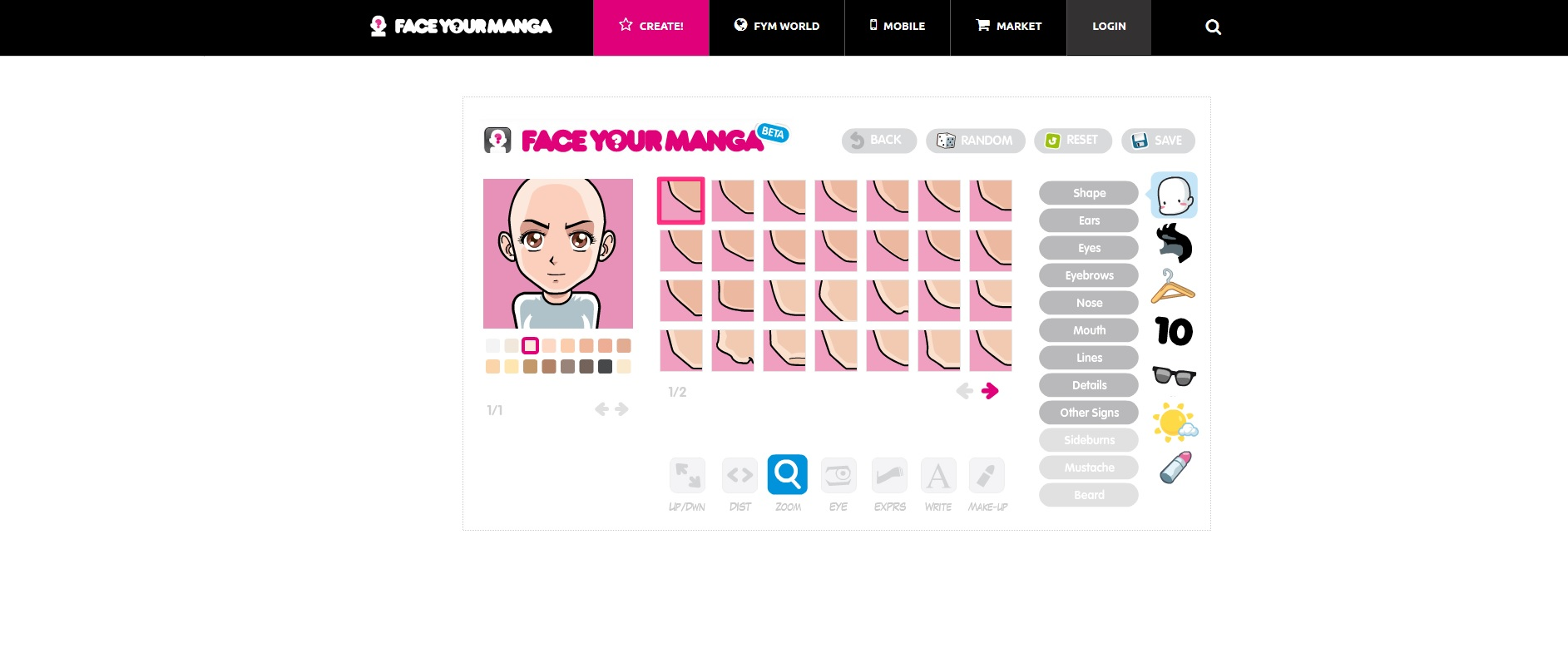 FACE YOUR MANGA