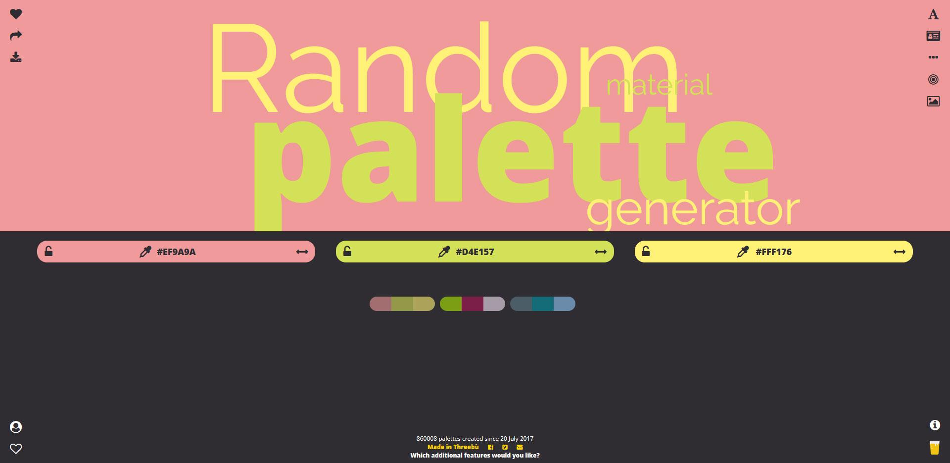 Random Material Palette