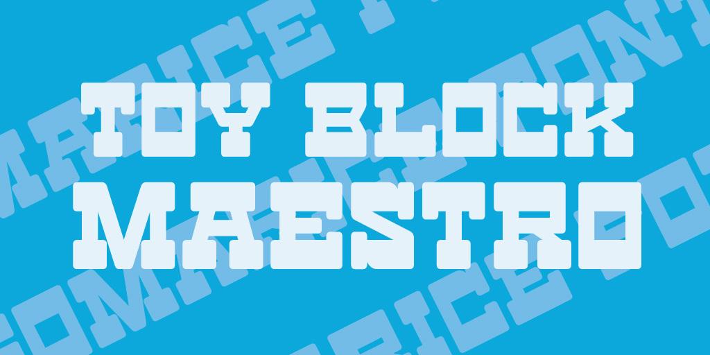 Toy Block Maestro